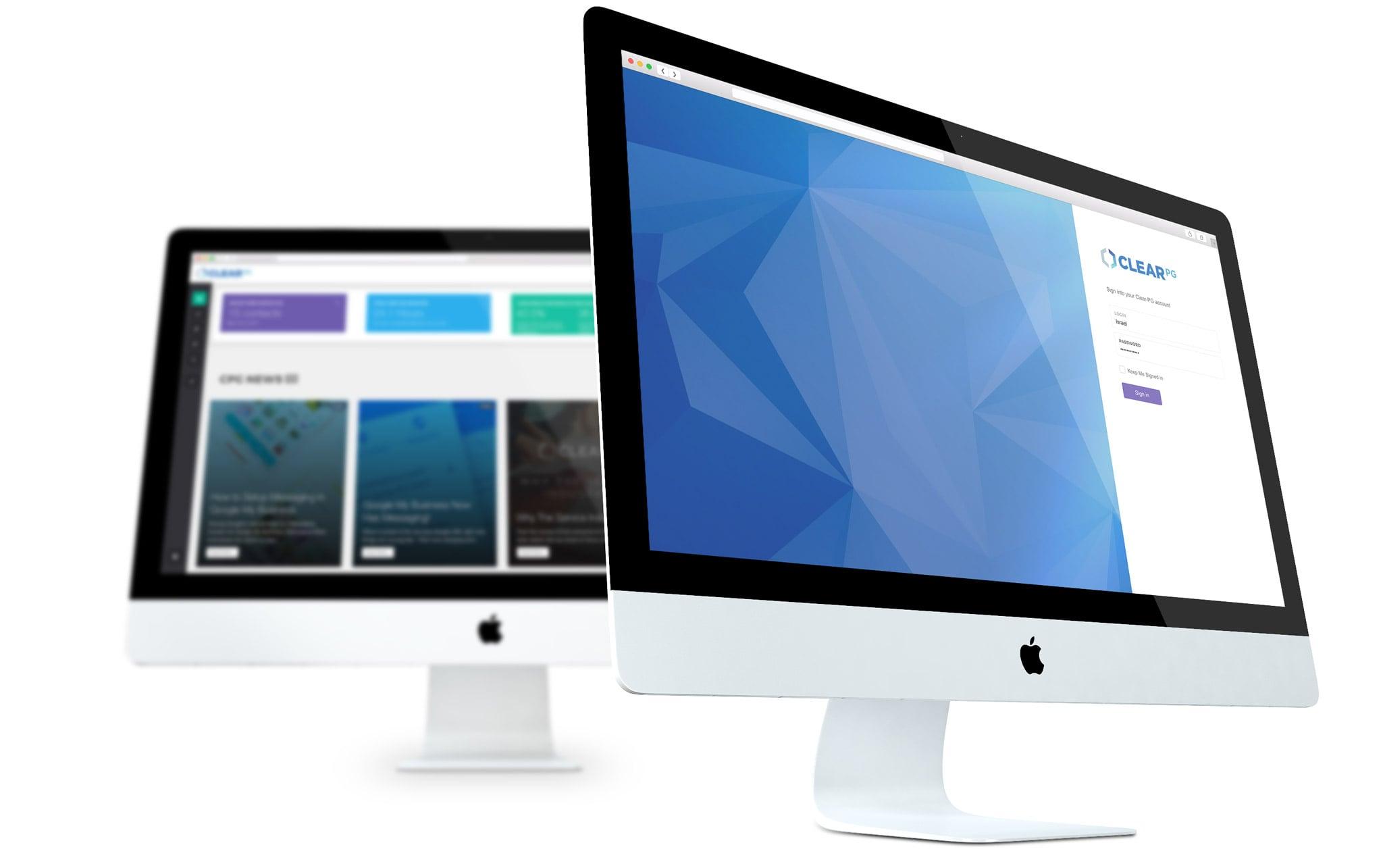 clear-pg-web-app-mockup2 Mobile and Web App Development